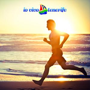 italia tenerife jogging in spiaggia