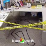 downshifting scena del crimine in ufficio