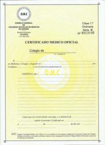sanità a tenerife certificato medico