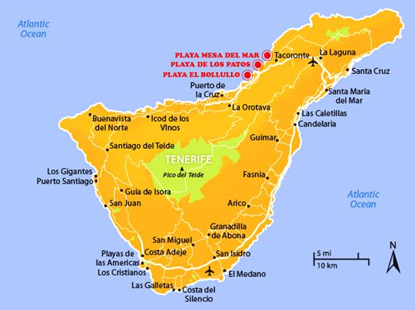 mappa tenerife